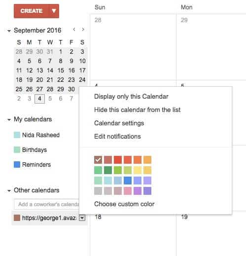 iCal Avaza Integration
