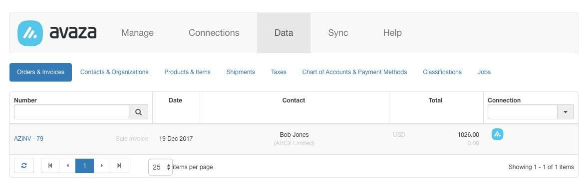 Sync Avaza Invoices with Xero