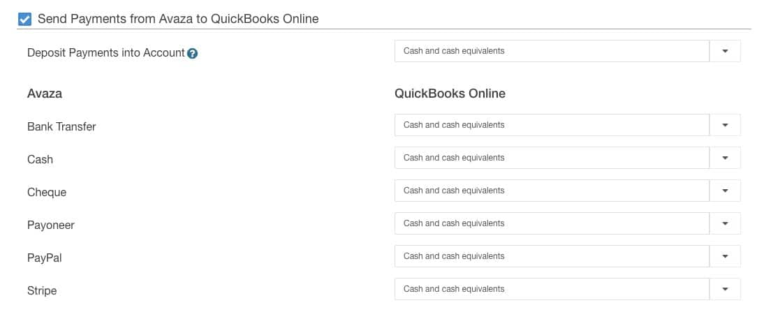 Sync Avaza Invoices with Quickbooks Online
